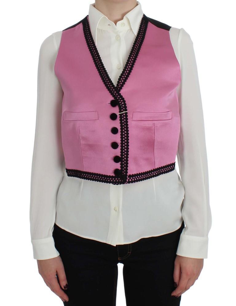 Dolce & Gabbana Women's Button Torero Tops Pink SIG30711 - IT42 M