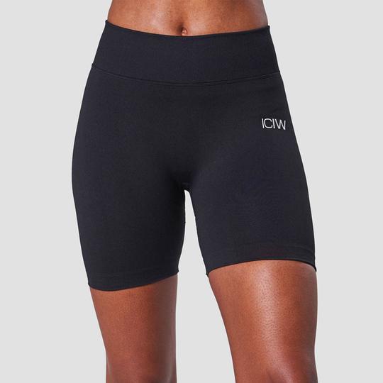 Scrunch Seamless Shorts, Black