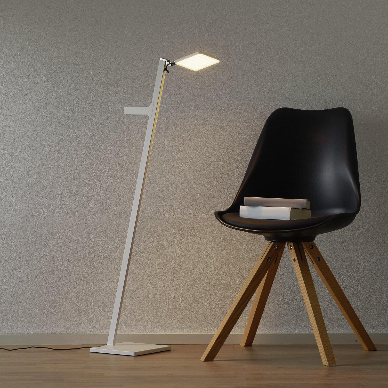 Nimbus Roxxane Leggera LED-gulvlampe, hvit