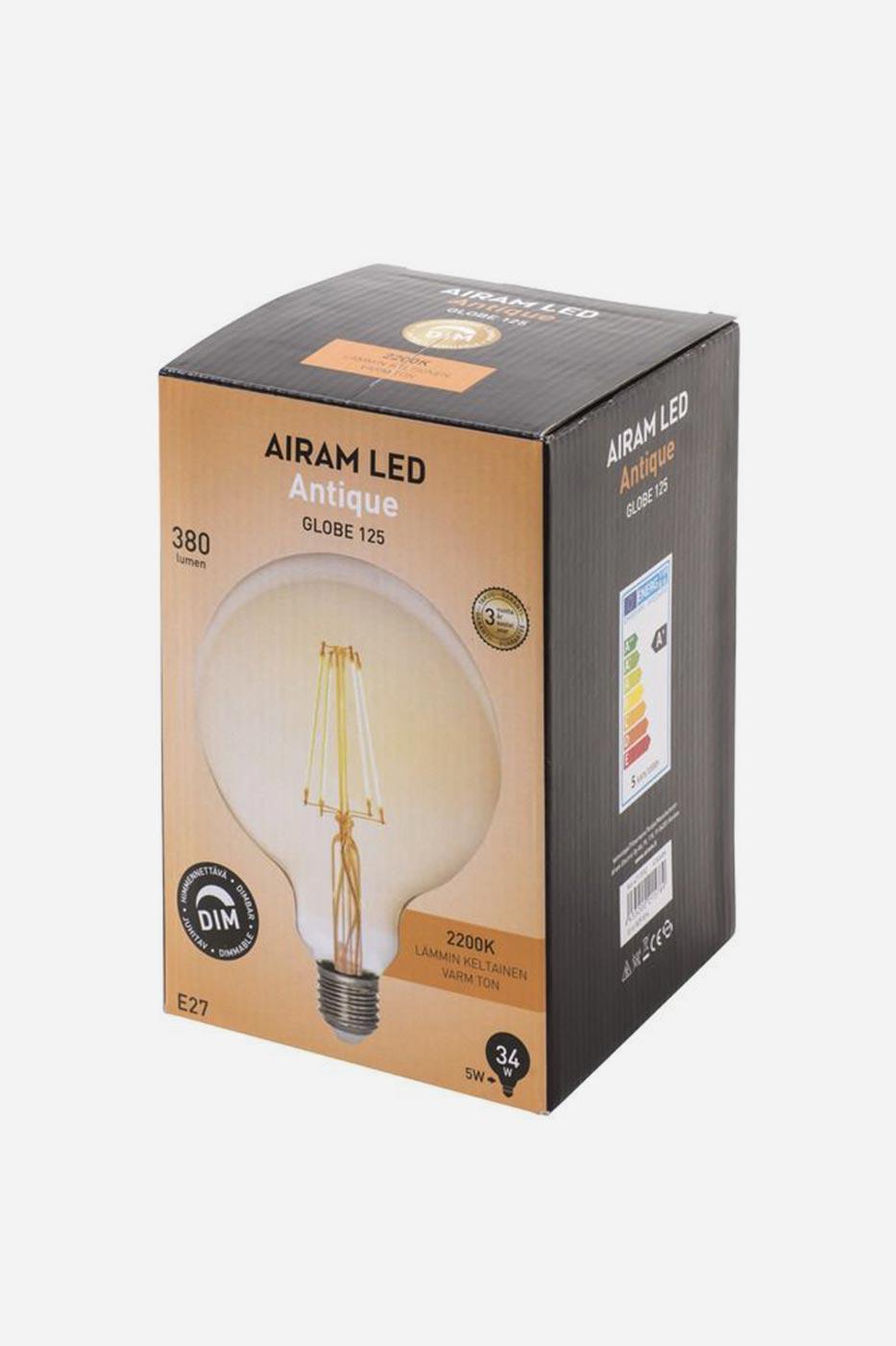Ljuskälla Filament LED Glob 125mm Antique dimbar