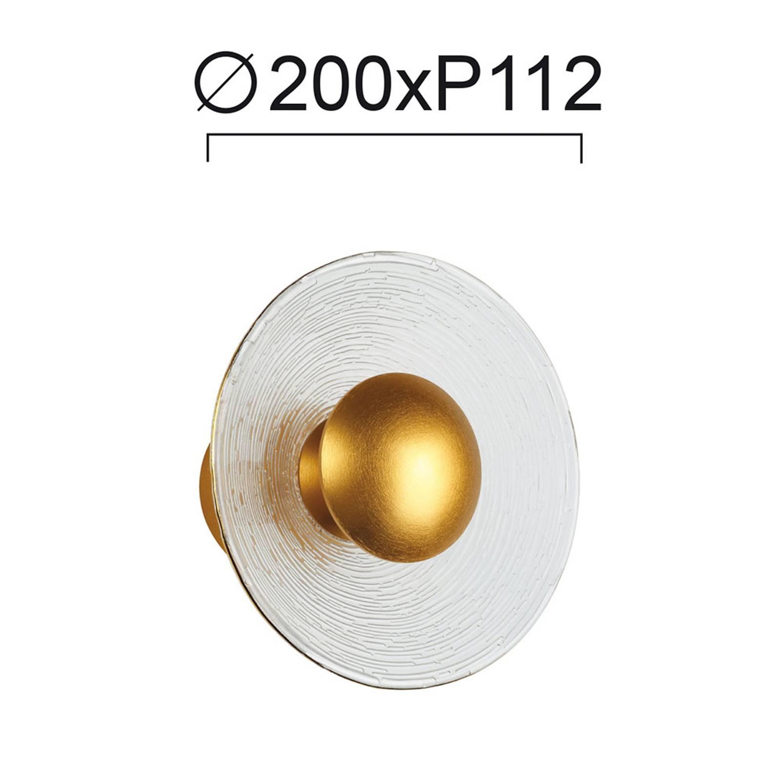 LED-seinävalaisin Glamour lasia