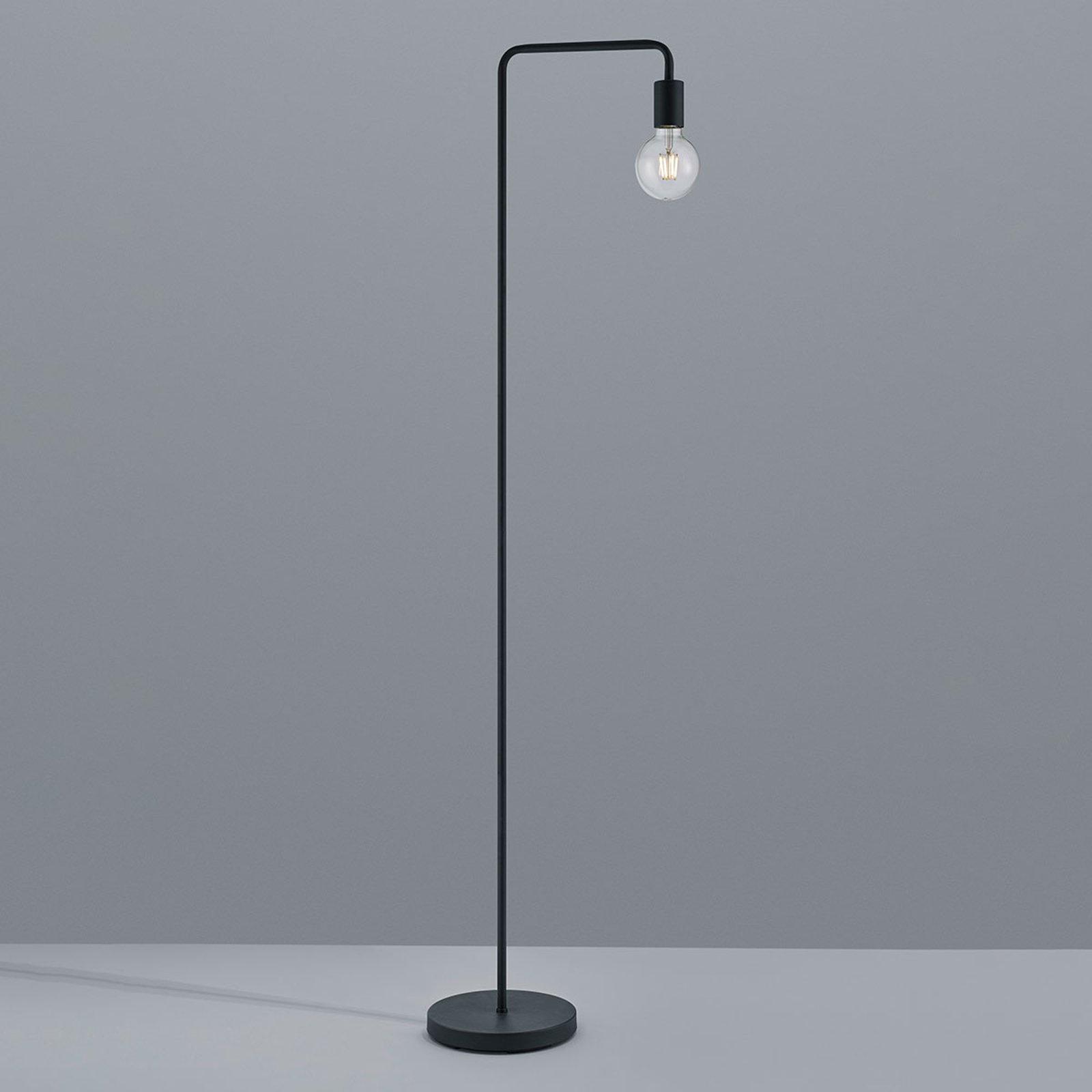 Gulvlampe Diallo uten skjerm matt svart