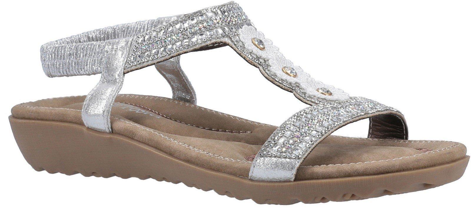 Fleet & Foster Women's Tabitha Slip On Sandal Various Colours 30099 - Silver 3