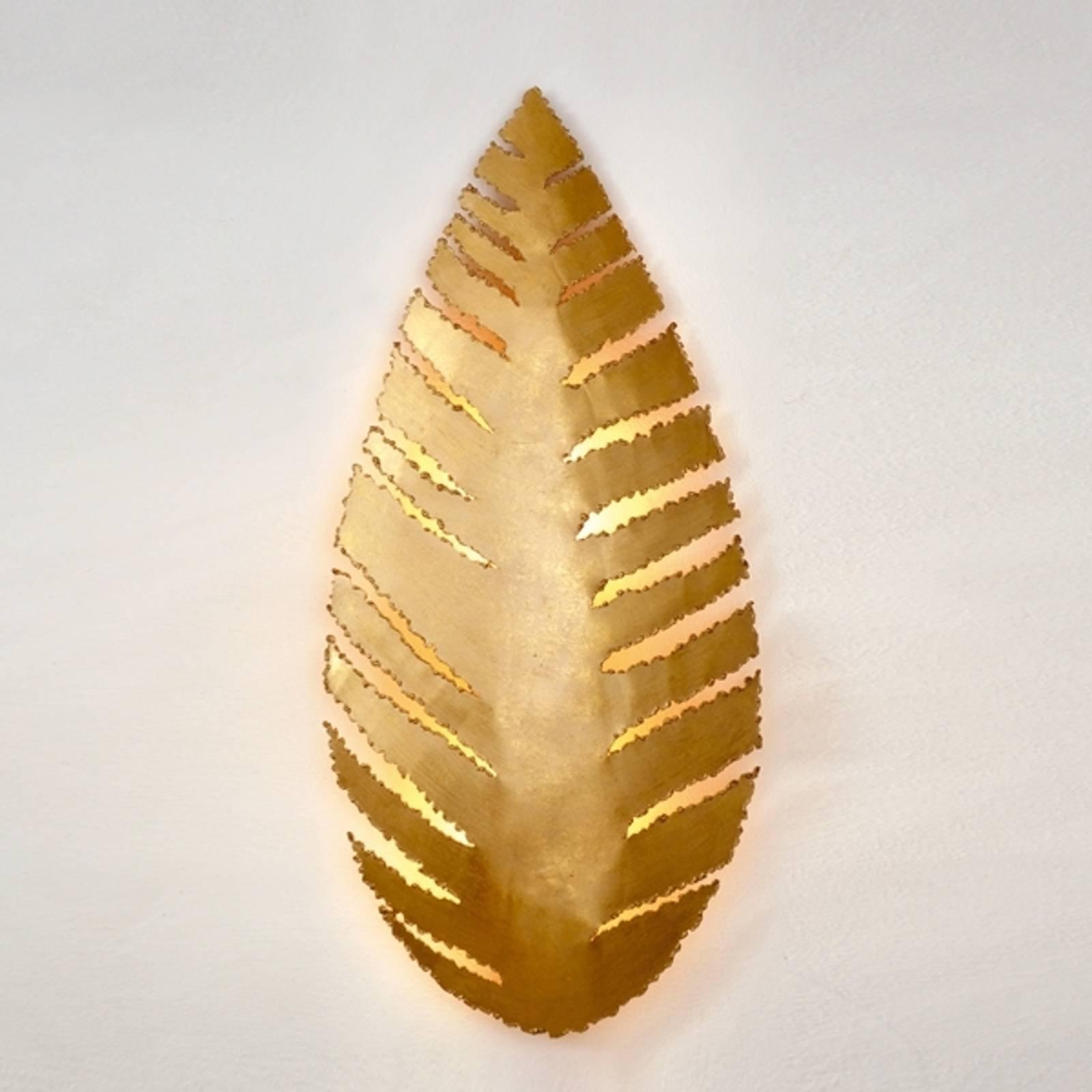 Vegglampe Pietro i bladform, gull