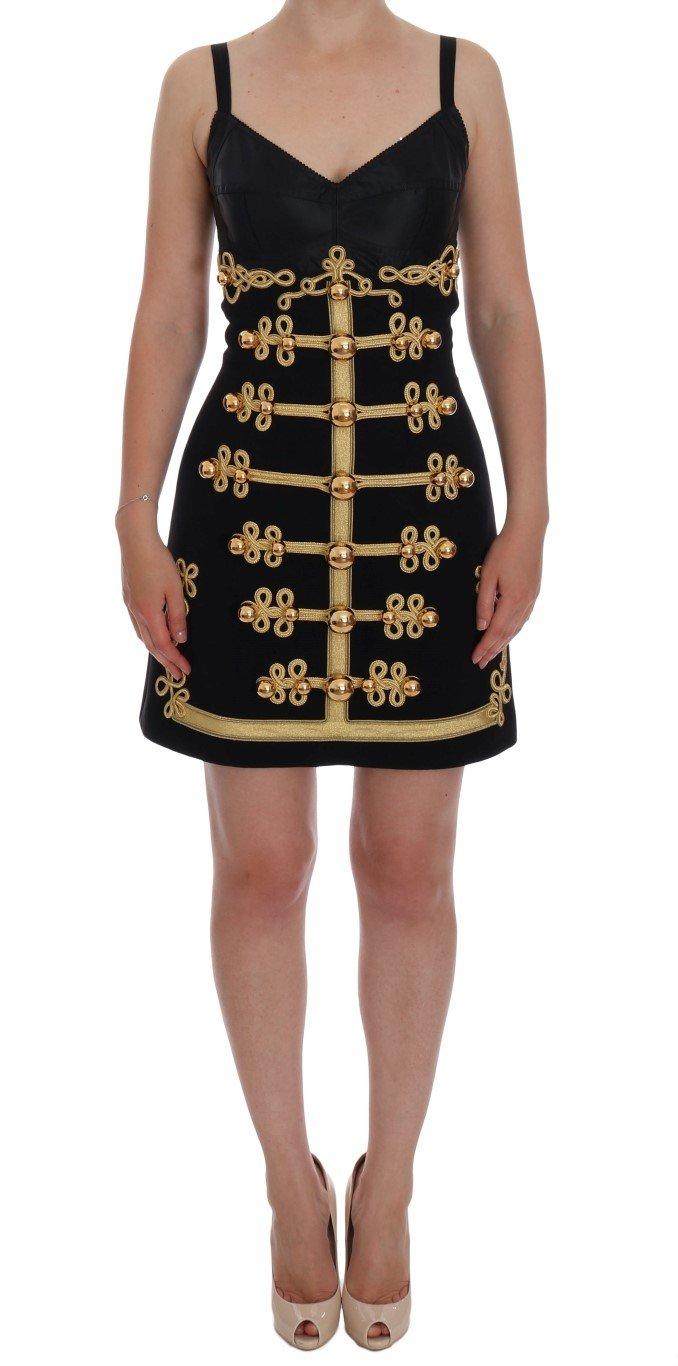 Dolce & Gabbana Women's Wool Stretch A-Line Dress Black DR1071 - IT36   S