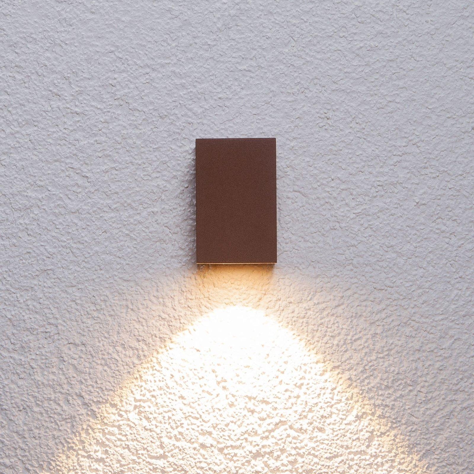 Rustbrun Tavi utendørs LED-vegglampe, 9,5 cm