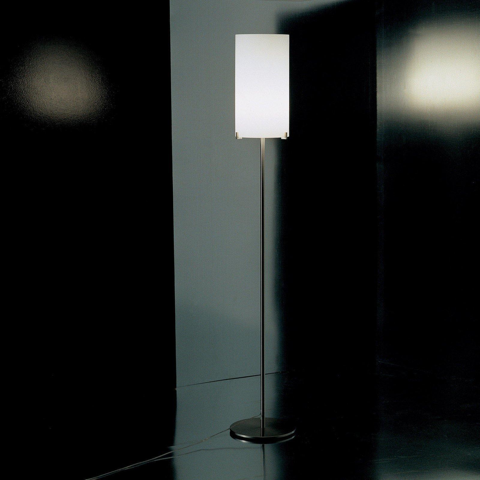 Prandina CPL F1 gulvlampe krom, glass opal