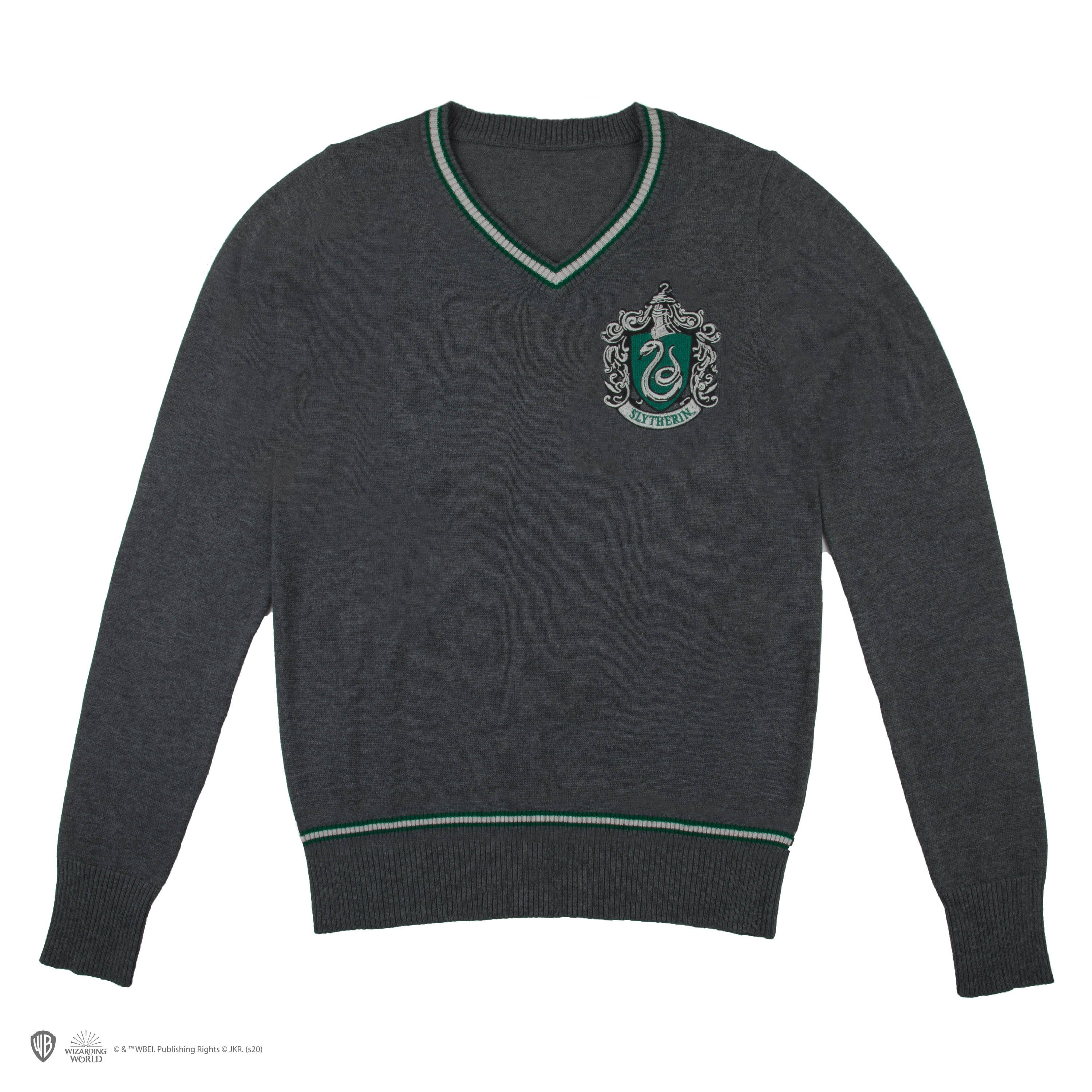 Harry Potter - Slytherin - Grey Knitted Sweater - Large