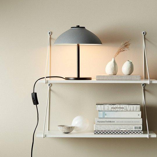 Bordlampe Vali, høyde 25,8 cm, svart/grå
