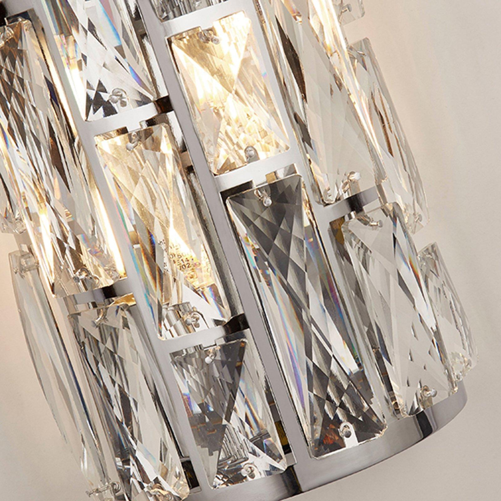 Vegglampe Bijou med krystaller