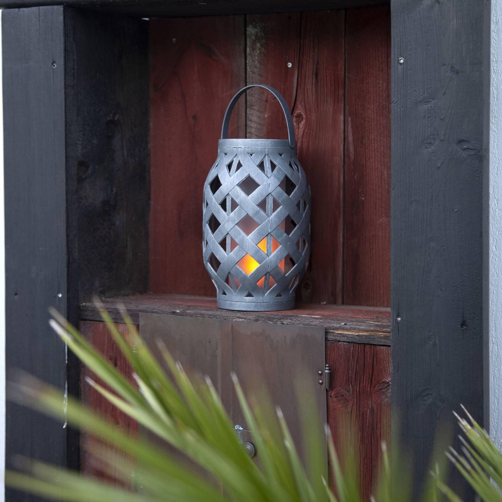 Wicker Flame -LED-lyhty, musta