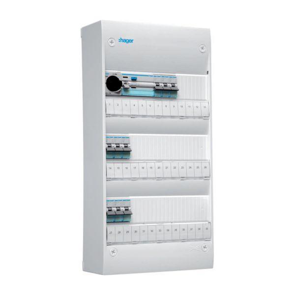 Hager GD313SF Kytkentäkaappi Tyyppi: Gamma, IP30 3 x 13 moduulia