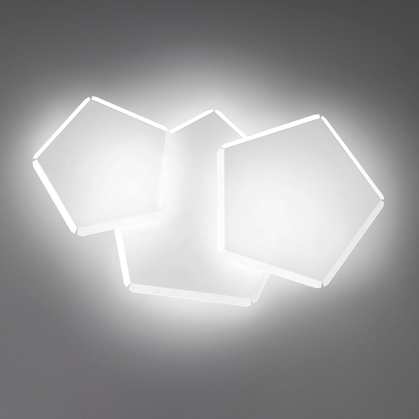 LED-seinävalaisin Pleiadi valkoinen, 3-lamppuinen