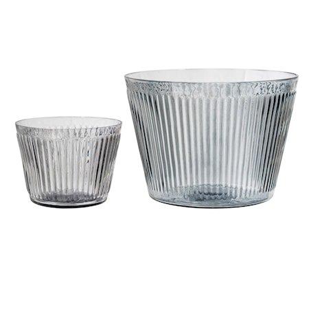 Krukker Grå Glass 11,5 & 28 cm