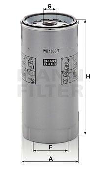 Polttoainesuodatin MANN-FILTER WK 1080/7 x