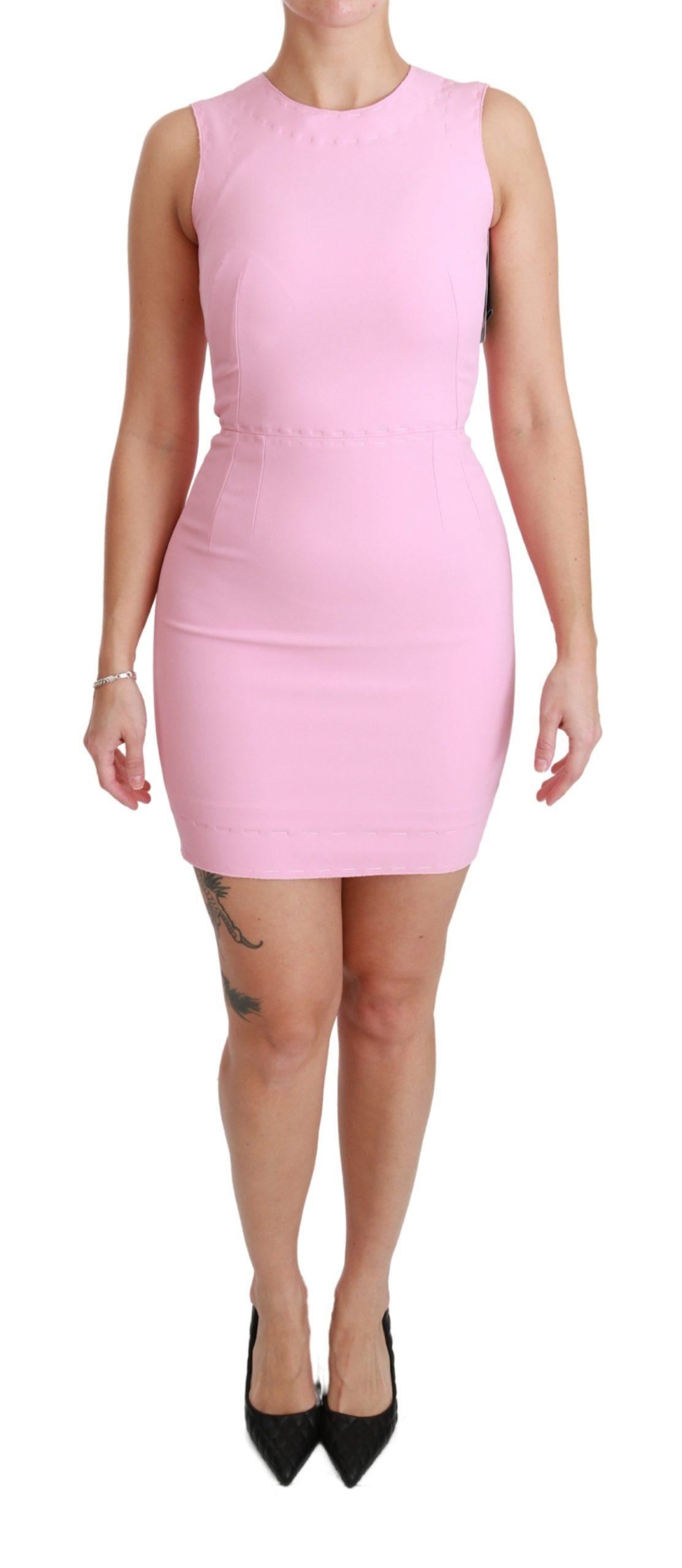 Dolce & Gabbana Women's Stretch Sheath Mini Dress Pink DR2463 - IT36   XS