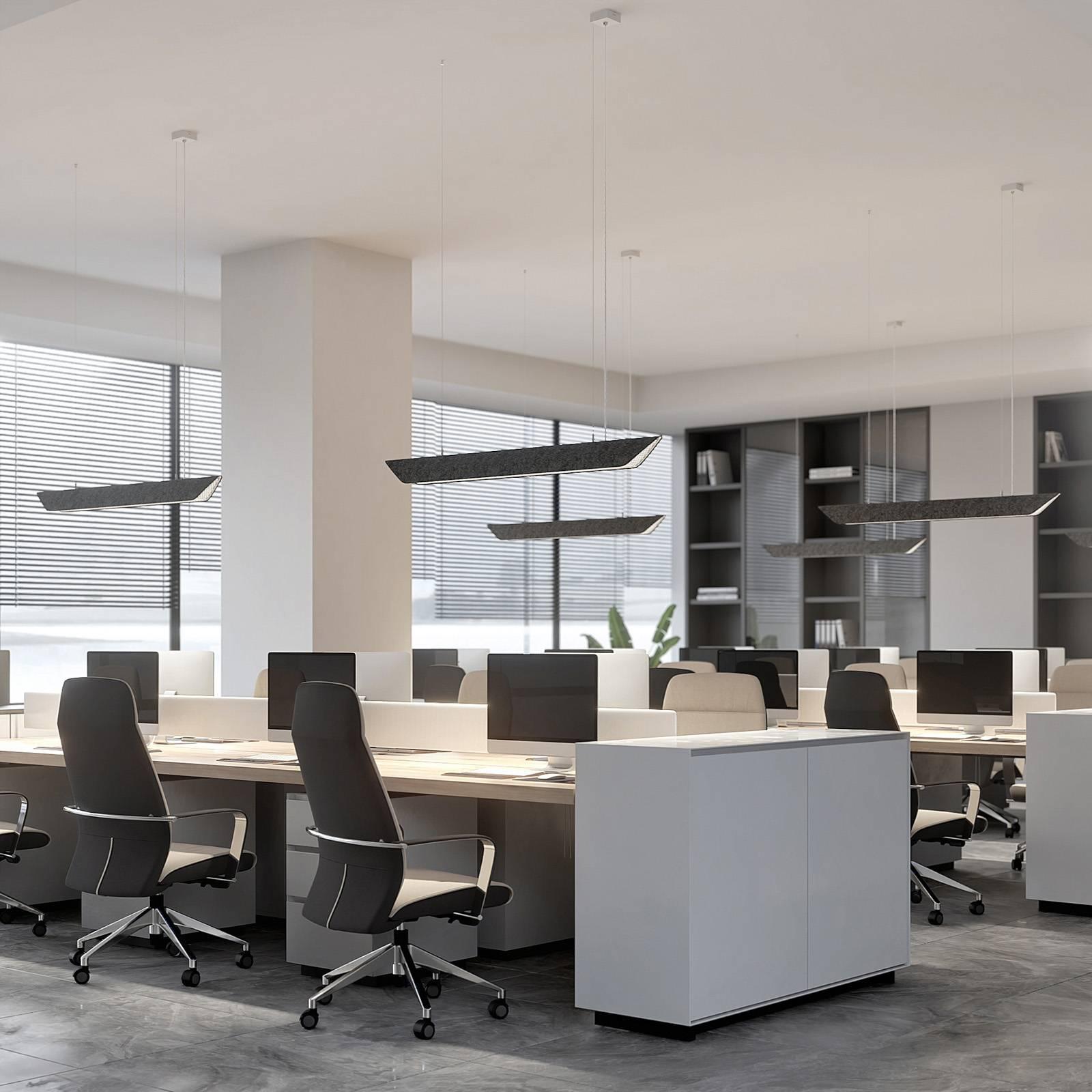 Arcchio Ekino toimiston LED-riippuvalaisin harmaa
