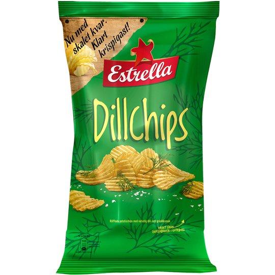 Dillchips 175g - 15% rabatt