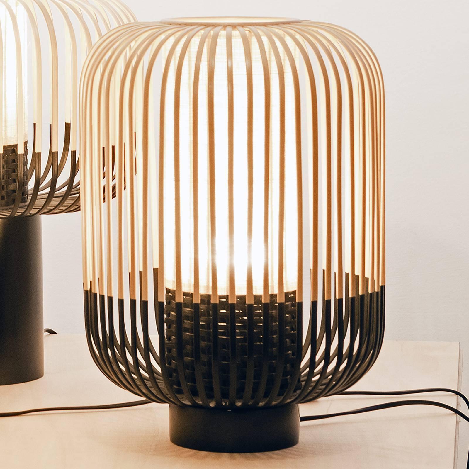 Forestier Bamboo Light M bordlampe, 39 cm, svart