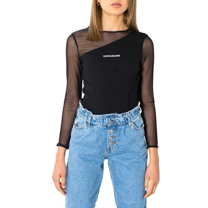 Calvin Klein Jeans Women T-Shirt Black 299924 - black XS