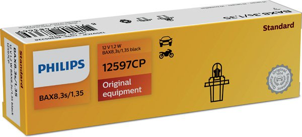 Glödlampa 12V 1,2W BAX8,3s