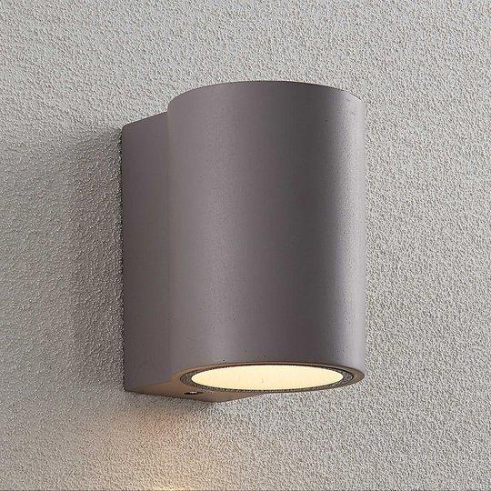 LED-ulkoseinävalaisin Katalia betoni 1-lamppuinen