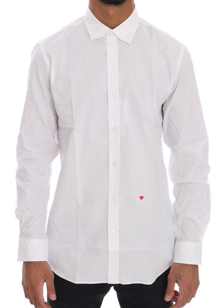 Moschino Men's Cotton Slim Fit Shirt White TSH1386 - 38