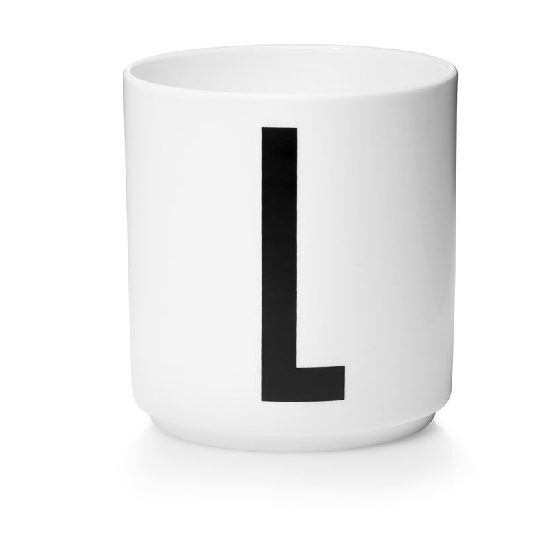 Design Letters - Personal Porcelain Cup L - White (10201000L)