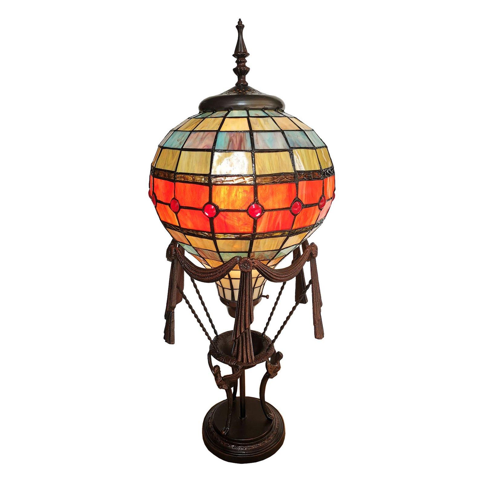 6016 bordlampe, varmluftsballong, Tiffany-stil