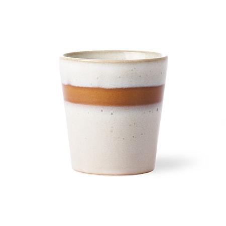 70's Keramik Mugg Vit 20 cl