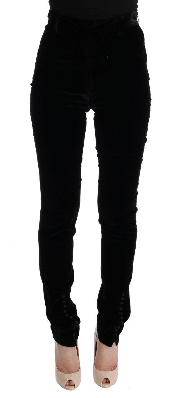 Ermanno Scervino Women's Slim Fit Trouser Black SIG30300 - IT38 XS