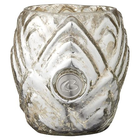 Telyslykt Dalia 7,5 cm Sølv