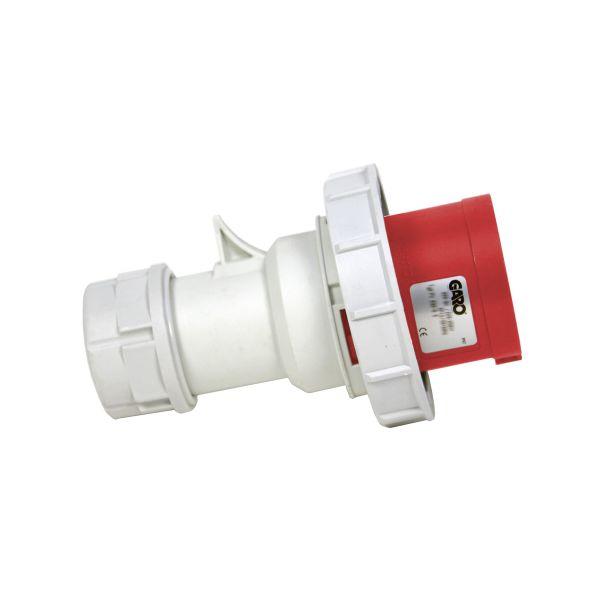 Garo PV 432-11 S Støpsel IP67, 5-polet, 32 A 400–440 V, rød, 11 h