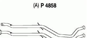 Pakoputki, Keskellä, PEUGEOT 407, 407 SW, (1705-SS)