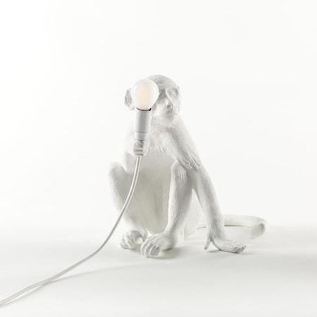 Monkey Lamp Sittande Vit