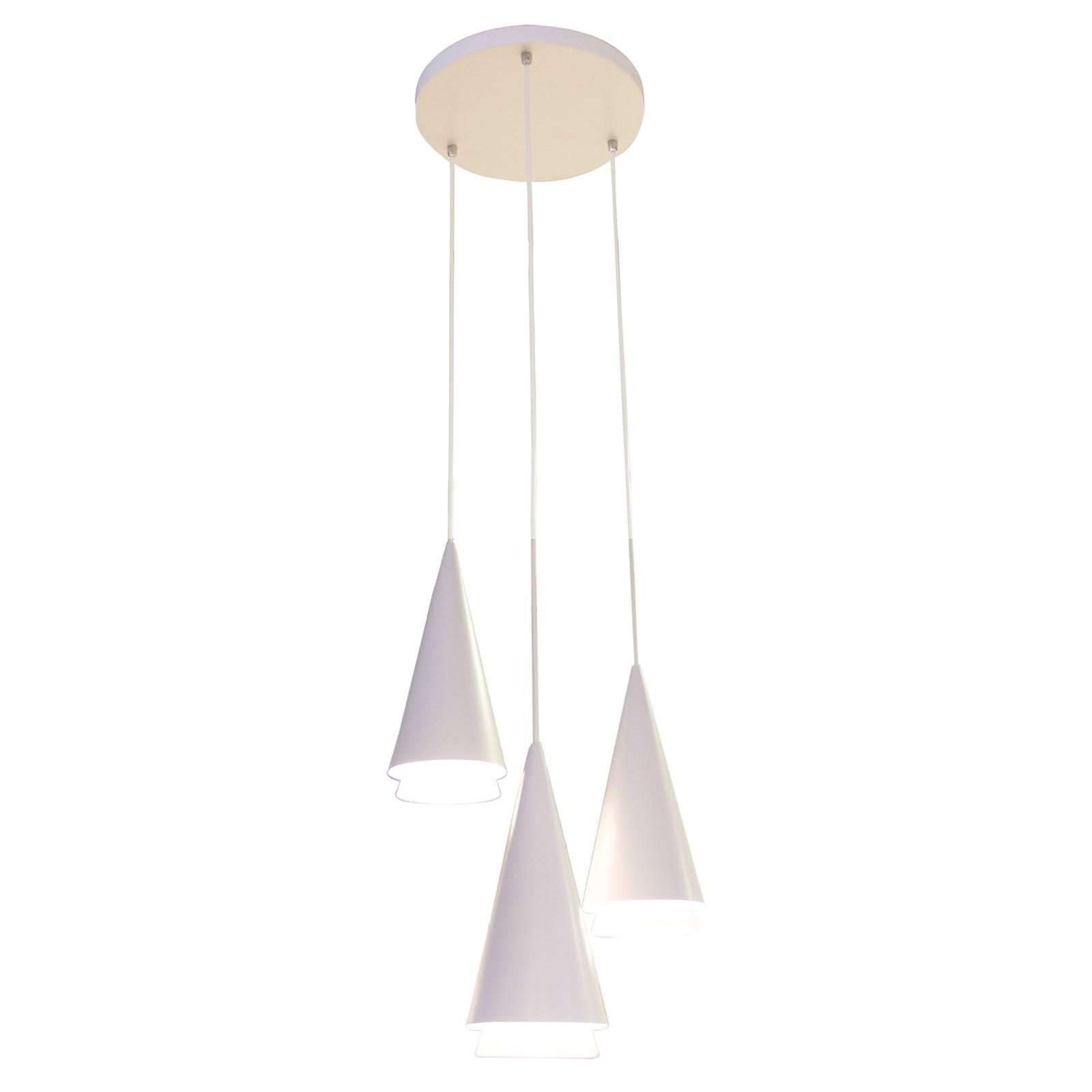 Lucande Naoh -riippuvalaisin, 3-lamppuinen