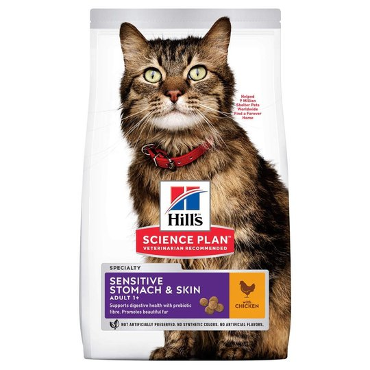 Hill's Science Plan Cat Adult Sensitive Stomach & Skin Chicken (1,5 kg)