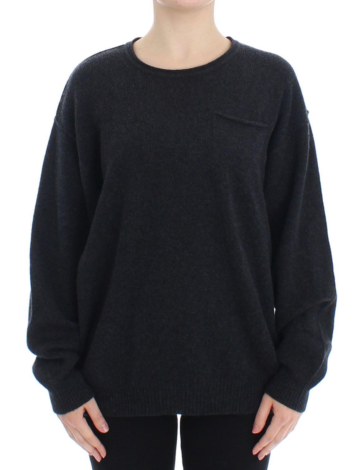 Dolce & Gabbana Women's Cashmere Crewneck Sweater Gray SIG13348 - IT40|S