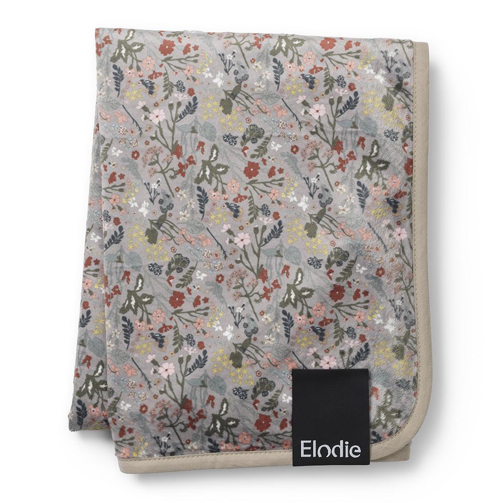 Pearl Velvet Blanket - Vintage Flower