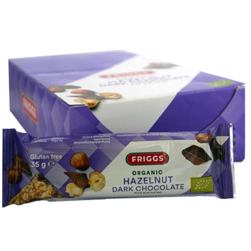 "Hel Låda Bars ""Hasselnöt & Mörk Choklad"" 24 x 35g - 70% rabatt"