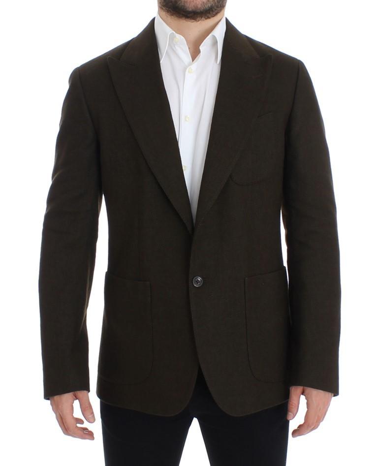 Dolce & Gabbana Men's Wool regular fit Blazer Green SIG12259 - IT48   M
