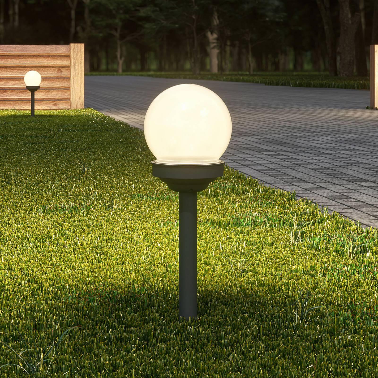 Lindby Haukur -LED-aurinko-maapiikkivalo, 6 kpl