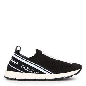 Dolce & Gabbana Logo Mesh Sneakers Svart/Vit 24 (UK 7)