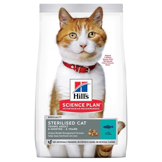 Hill's Science Plan Cat Young Adult Sterilised Tuna (1,5 kg)
