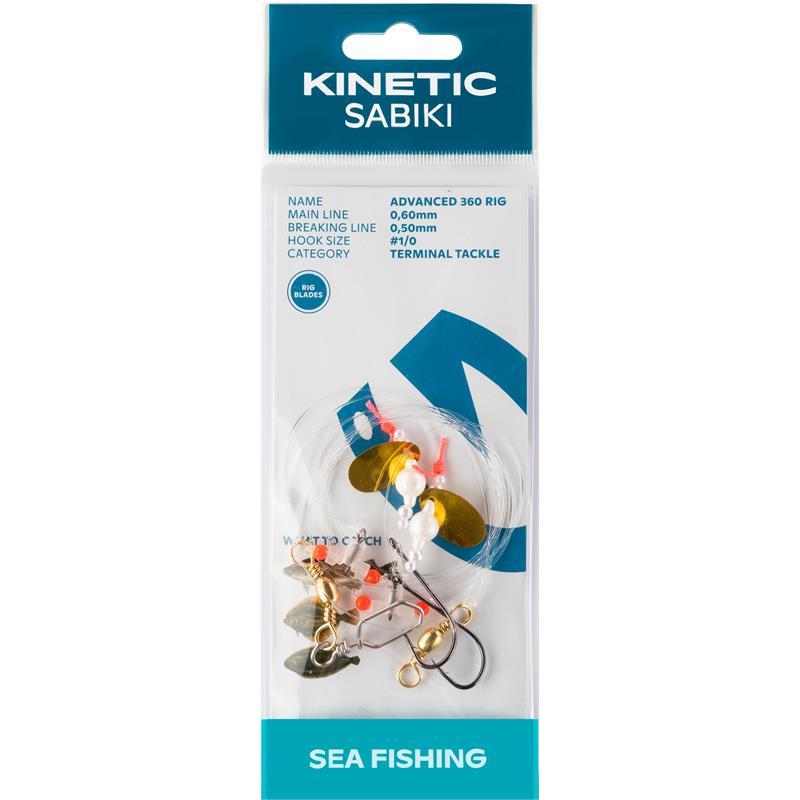 Kinetic Sabiki Advanced 360 #1/0 Pearl