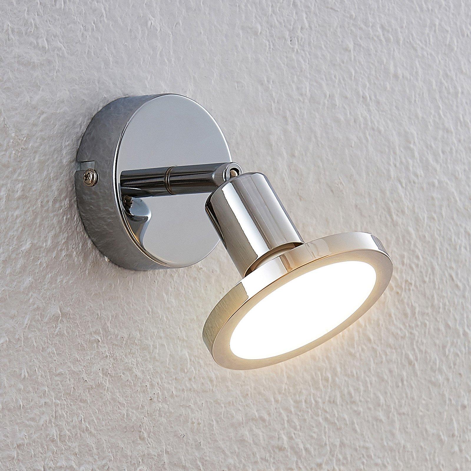 Lindby Ayden LED-veggspot i krom