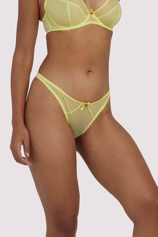 Deja Day Grace Lemon Yellow Thong UK 16 / US 12