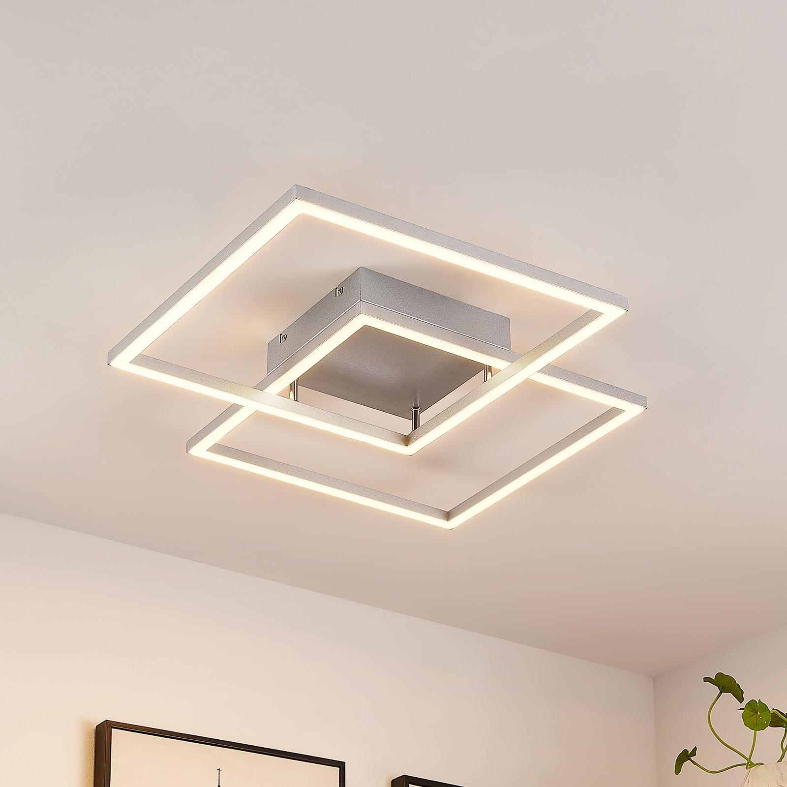 Lucande Muir -LED-kattovalaisin, neliömäinen, CCT