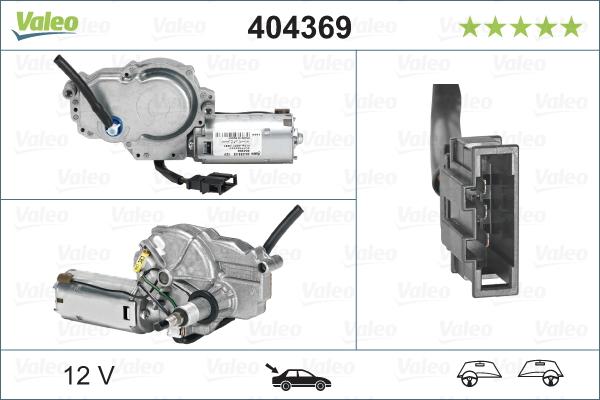 Pyyhkijän moottori VALEO 404369