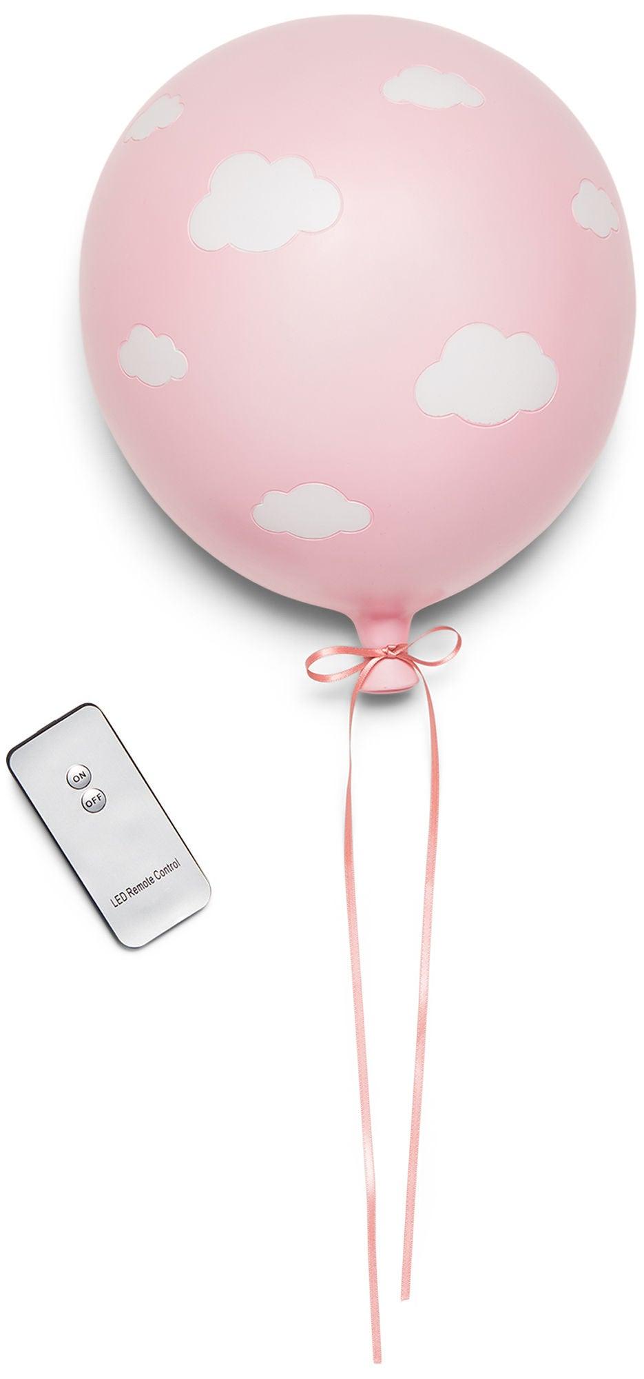 Lilou Lilou Seinävalaisin Ilmapallo Pilvi, Pink/White